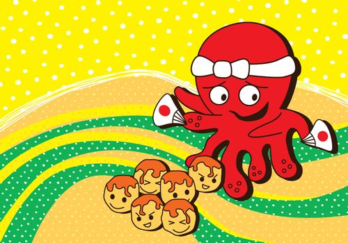 octopus seafood theme