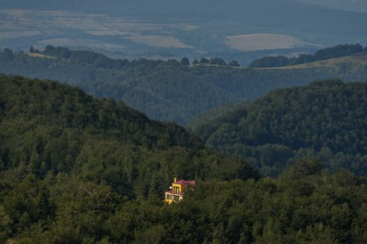 Mountain forest at Central Balkan mountain, pass Beklemeto, Stara Planiana
