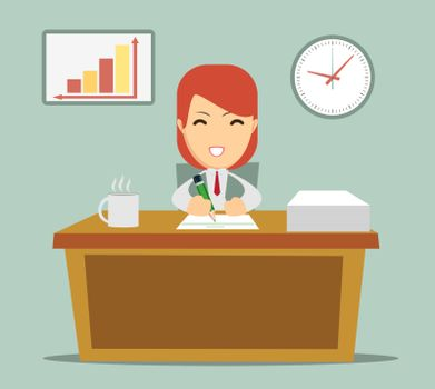business person working in office hour
