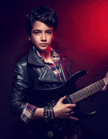 Handsome guy with guitar