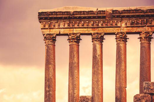 Jupiter's temple of Baalbek, Lebanon