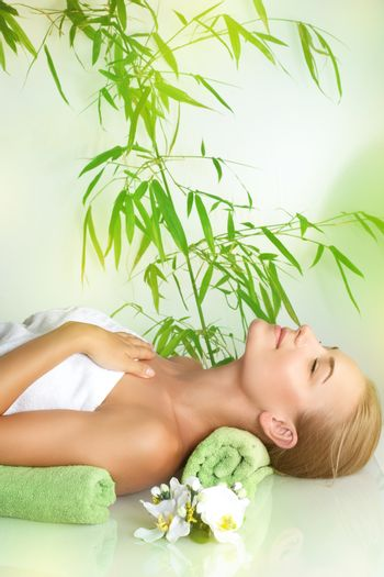 Relaxation on a massage table