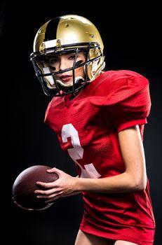 Female football player in sportswear