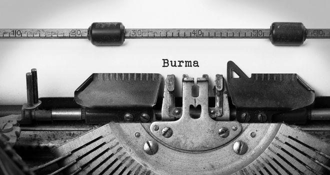 Old typewriter - Burma