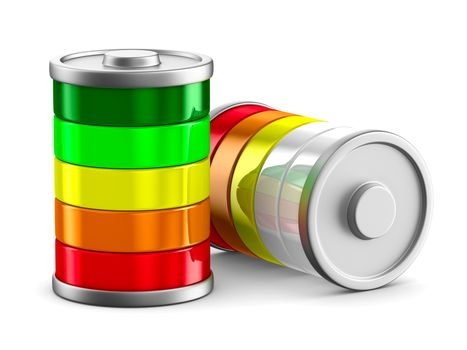 battery on white background. Isolated 3d image