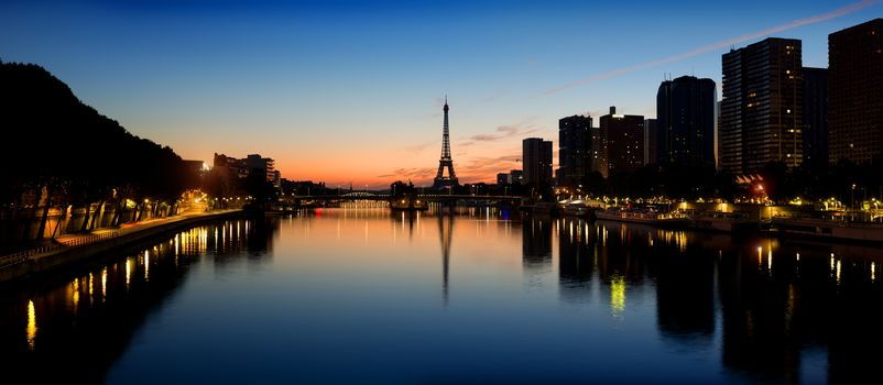 Parisian morning landscape