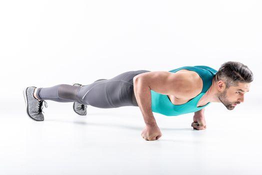 Man doing plank exercise