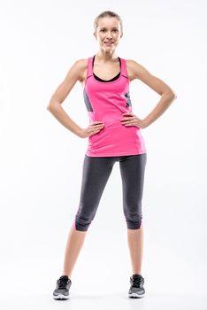 Young woman in sportswear