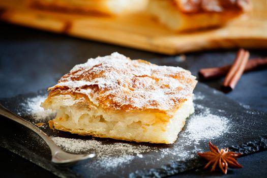 Piece Of A Homemade Custard Pie
