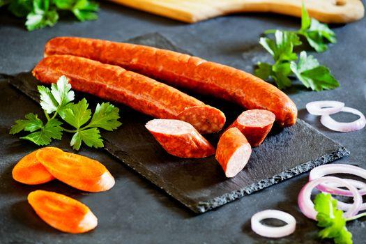 Pork Sausages With Vegetables