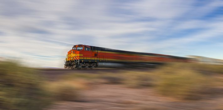 freight train at high speed