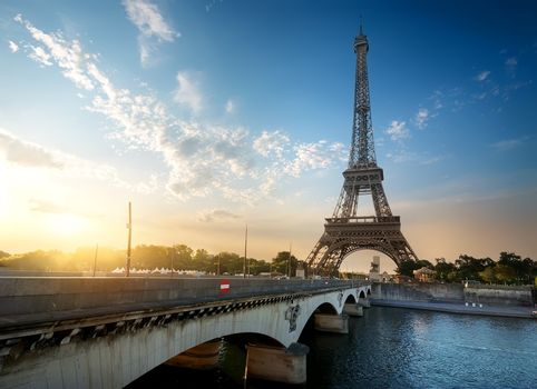 Eiffel Tower and Bridge
