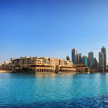 UAE. Downtown Dubai skyline.