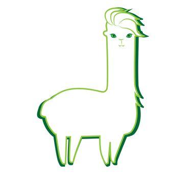 Cute Lama Character