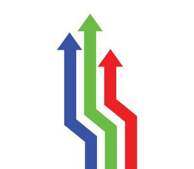 RGB Arrows Up