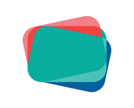 Abstract Overlapping Colored Card