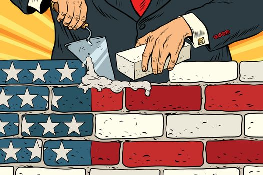 politician to build a wall on the USA border