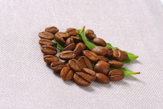 Medium roasted Arabica coffee beans