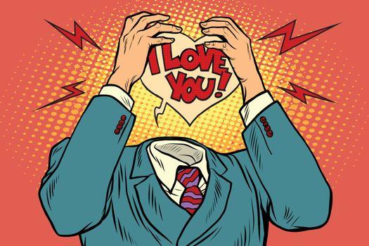 I love you, feelings instead of the head