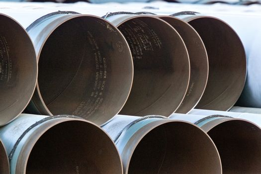 Pipe Pipeline stacked