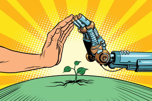 Humans and robots protect nature
