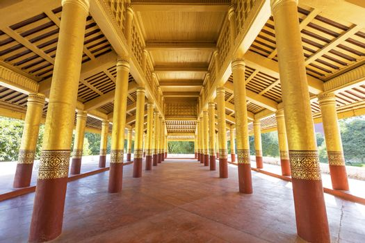 Corridor in Mandalay Palace