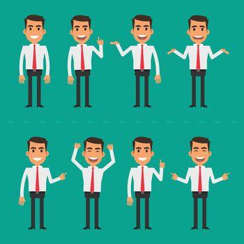 Businessman in various poses