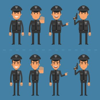 Policeman in various poses