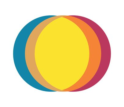 Abstract Multiple Color Circle Design