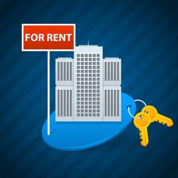 Concept rent of city apartments