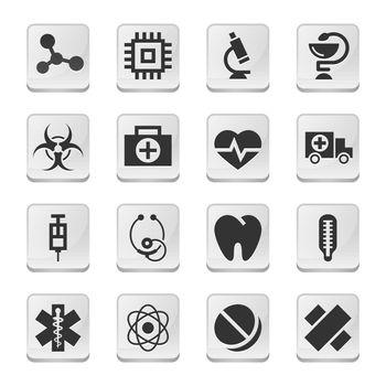 Rectangular medical icons
