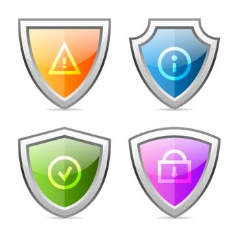 Set shields with identification signs