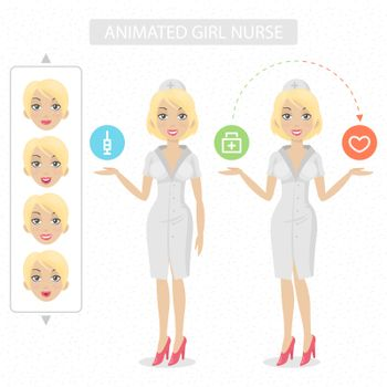 Nurse tells and represents