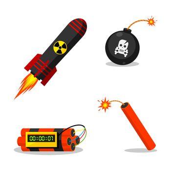 Set explosive objects