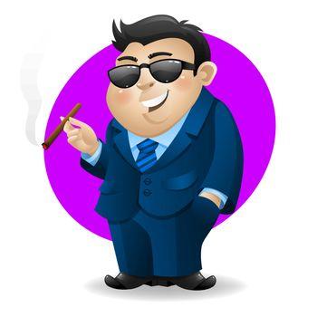 Businessman with cigar
