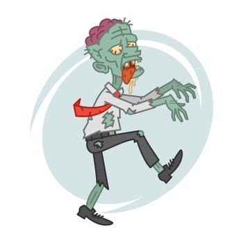 Mad zombie in motion