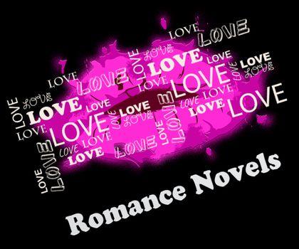 Romance Novels Lips Means Romantic Affection Story Books