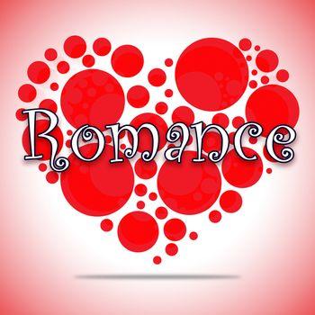 Romance Heart Circles Shows Love Romance And Celebration