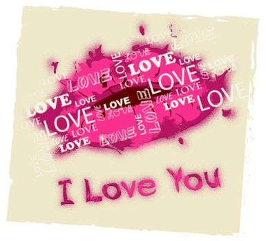 I Love You Lips And Clouds Shows Romance And Loving
