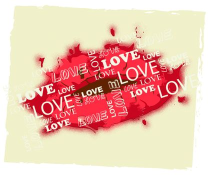 Love Lips Meaning Valentine Romance And Celebration