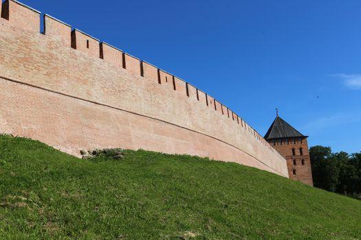 Towers of Veliky Novgorod Kremlin fortress
