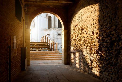 Arch and brick walls