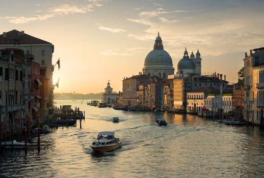 Calm sunset in Venice