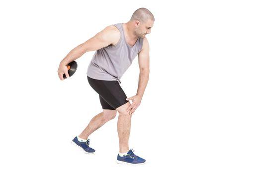 Athlete discus throwing
