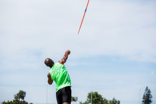 Athlete throwing a javelin