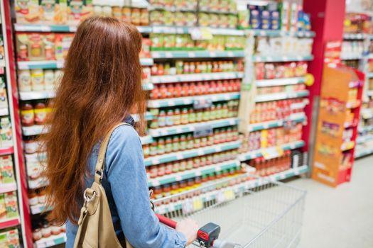Customer walking through an aisle
