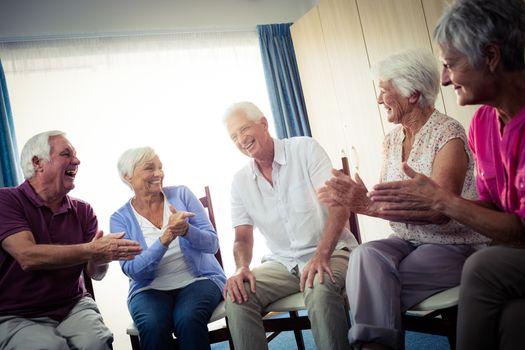 Seniors interacting