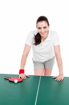 Female athlete playing ping pong