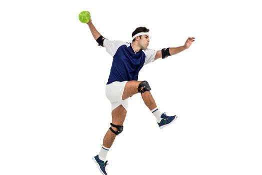 Sportsman throwing a ball