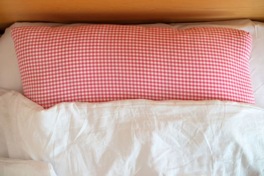 Three star hotel bed and pillows